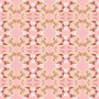 Gentle pink seamless pattern with swirls and curls — Stock Vector