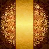 Vintage altın tasarım. kapak, davet veya menü şablonun — Stok Vektör