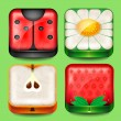 Set of buttons and icons  — 图库矢量图片