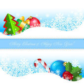 Set of banners with Christmas symbols — Stock Vector