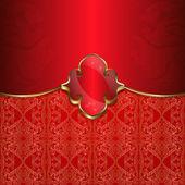 Luxury red card — Vector de stock