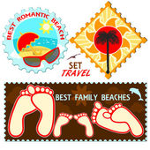 Vacation and travel of labels — Stock Vector
