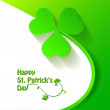 Clover. Happy St. Patrick's Day — Stock Vector