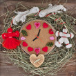 Stock Photo: Watch with hearts in the nest.