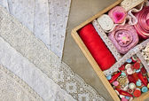 Box for needlework. — Stock Photo