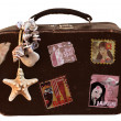 Travel Vintage Suitcase with stickers — Stock Photo #39706801