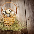 Quail eggs in basket — Stock Photo #40598451