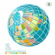 Stock Vector: Abstract globe
