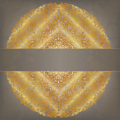 Gold pattern round — Stock Vector