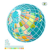 Abstract globe — Stock Vector