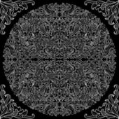 Lacy black-and-white seamless pattern — Stock vektor