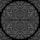 Dantelli siyah beyaz seamless modeli — Stok Vektör