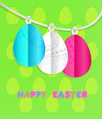 Colorful paper eggs. Easter card — Stockvektor