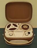 Vintage analog recorder reel to reel — Stock Photo