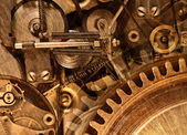 Abstract stylized collage of a mechanical device — Stock Photo