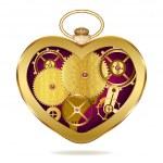 Clockwork heart-shaped clock — Stock Vector #45428283