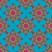 Bright seamless pattern in ethnic style — Stock Vector