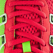 Closeup of a red sneaker laces — Stock Photo