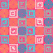 Бесшовный ретро геометрический образец — Cтоковый вектор