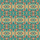 Abstracte naadloze patroon met trendy kleuren — Stockvector