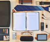 Set of business accessories — 图库照片