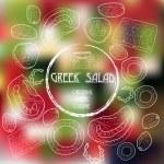 Figure ingredients to a Greek salad — Stock Vector #49584871