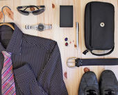 Set of men's clothing and accessories. — Stock Photo