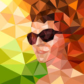 Ritratto di una donna in occhiali da sole — Vettoriale Stock