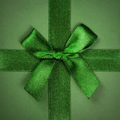 Green bow gift — Foto Stock