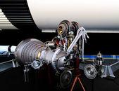 Rané raketový motor — Stock fotografie