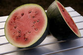 Vine Ripen Watermelon — Stock Photo