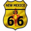 Stock Photo: Route 66 New Mexico