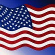 Windy USA Flag — Stock Photo