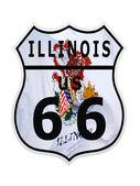 Route 66 Illinois — Stock Photo