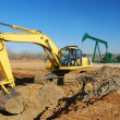 Oil Well Site Work — Stock Photo