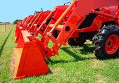 Line of Tractors — Stock Photo
