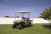 Silber Golf-cart — Stockfoto