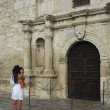 Photographing The Alamo Chapel Entrance — Stock Photo