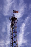 Derrick Old Glory — Stock Photo
