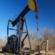 Stock Photo: Yellow Head Pump Jack