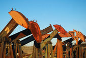 Pump Jack Yard — Stock Photo