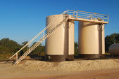 Twin Tan Storage Tanks — Stock Photo