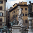 Neptune fountain Florence — Foto Stock