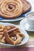 Churros with chocolate — Foto de Stock