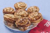 Rolls stuffed apple and almonds series 07 — Foto Stock