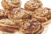 Rolls stuffed apple and almonds series 06 — Foto Stock