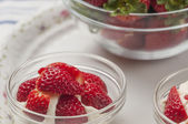 Strawberries and cream series 07 — Stock Photo