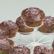 Stock Photo: Chocolate muffins series 09