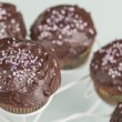 Stock Photo: Chocolate muffins series 08