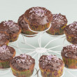 Stock Photo: Chocolate muffins series 10